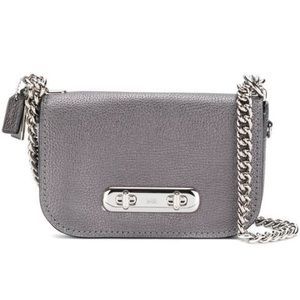 Coach Metallic Graphite Swagger 20 Crossbody